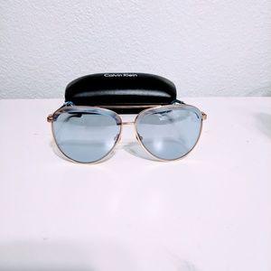 Calvin Klein Sunglasses (CK8048) Satin Gold, New